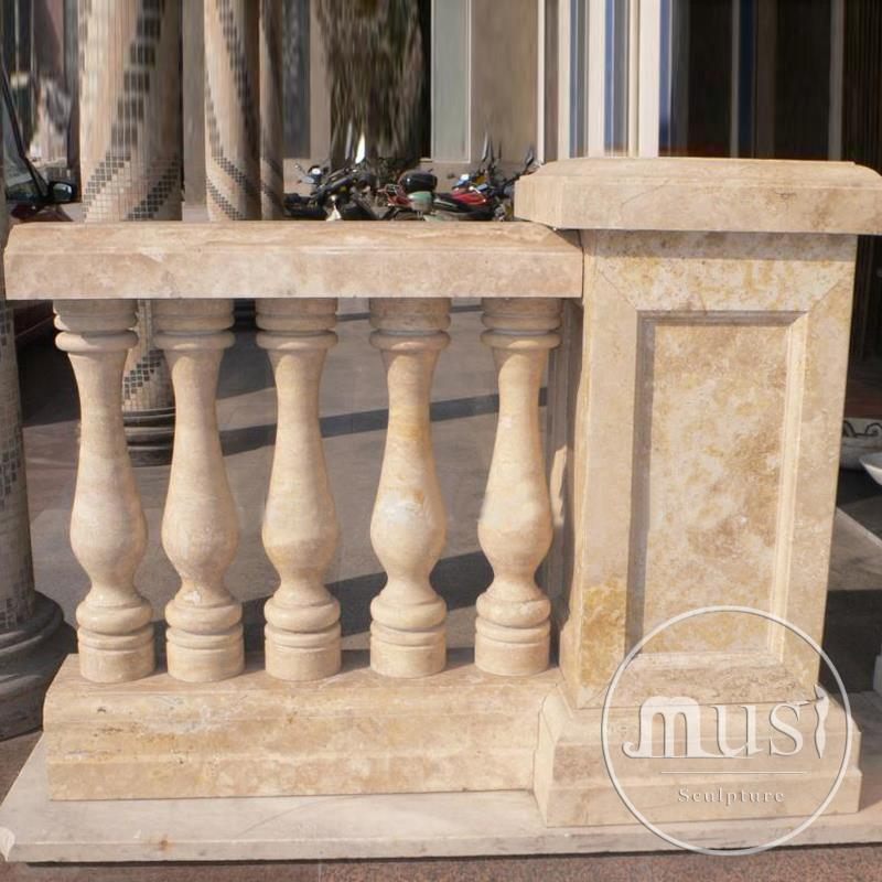 Balcony In Marble Wall : Hot sale modern home decor stone balcony railing buy