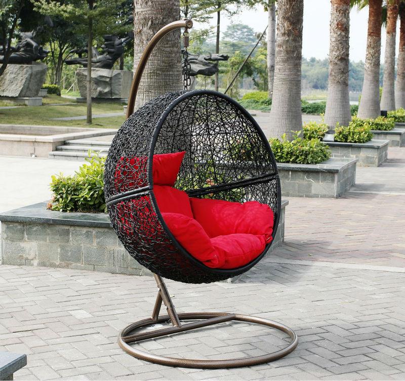 Mh 6001 tesoros jard n muebles de rattan outdoor columpio - Hamaca de jardin ...