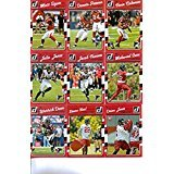 2016 Donruss Football Atlanta Falcons Team Set of 12 Cards: Matt Ryan(#11), Devonta Freeman(#12), Tevin Coleman(#13), Julio Jones(#14), Jacob Tamme(#15), Mohamed Sanu(#16), Paul Worrilow(#17), Desmond Trufant(#18), Warrick Dunn(#19), Deion Jones(#313), Keanu Neal(#325), Austin Hooper(#352)