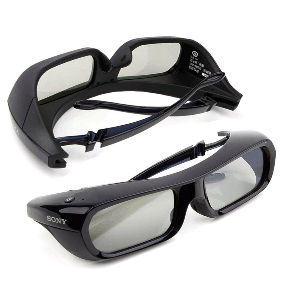 2 Pieces Sony Rechargeable 3D Glasses Active Shutter Black TDG-BR250 Original New