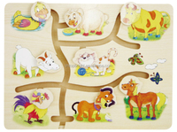 Animal Shaped Wooden Sliding Puzzles/animal Outdoor Games For Kids ...