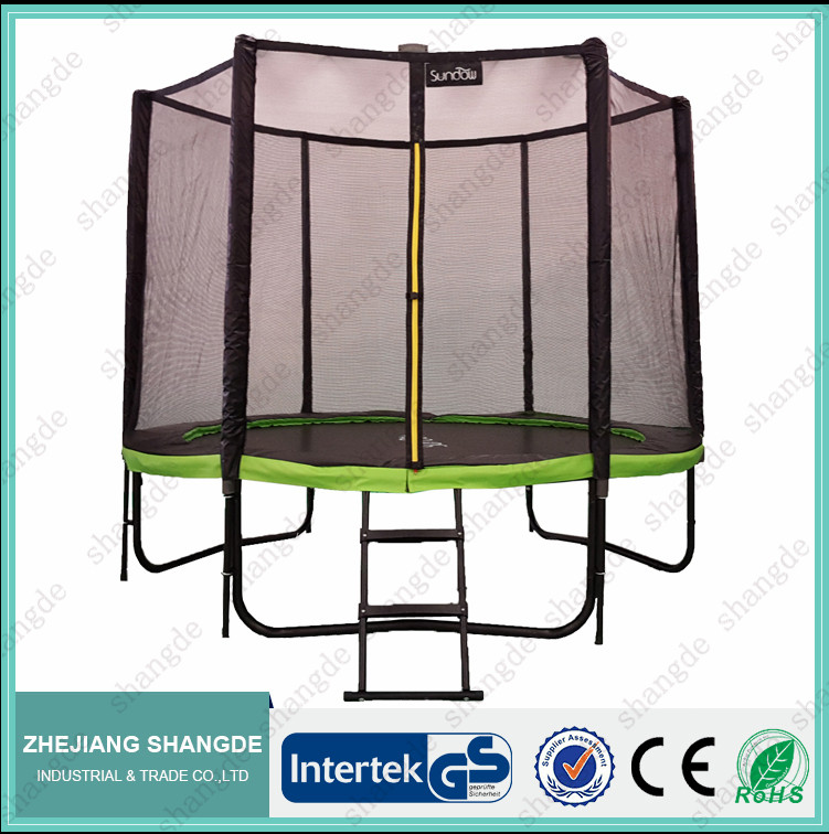 8 ft cheap competition commercial trampoline with safety net