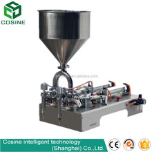 two nozzles small bottle liquid magnetic pump filling machine