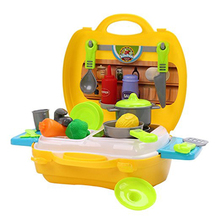 Early Educational Pretend Role Play Toy Simulation Kitchen Playset For Kids