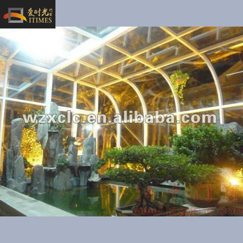 Customized sunlight glass house winter house for growing flowers