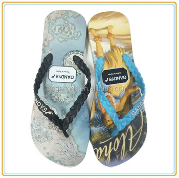 82e0fa15f New Fashion Eva Flip Flop Beach Rubber Embossed Thong Slipper For ...