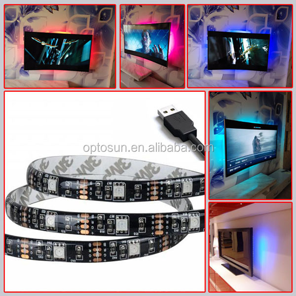USB LED Strip 5050 3528 Tape DC5V TV Background Lighting DIY Home Decorative Lamp RGB/Warm White/White