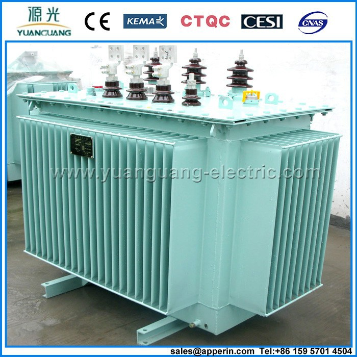 19KV 1 mva step up voltage regulated oil immersed electrical transformer