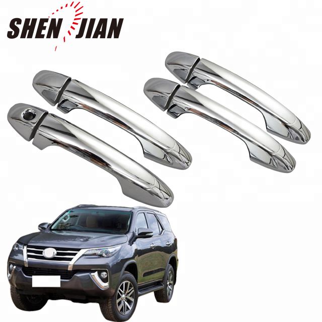 Chrome car door handle bowl cover for Toyota 2015 fortuner
