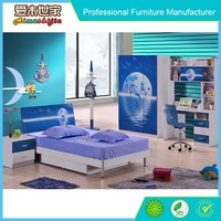 blue painting kids lobby furniture child furniture set