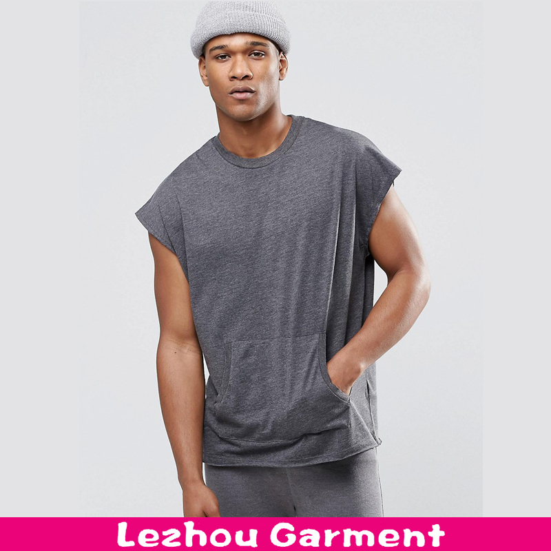oversized t shirt with kangaroo pocket new arrival men t shirt wholesale