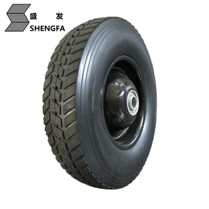 10x3.3 inch semi solid rubber wheel with turf 250# tread for tool trolleys