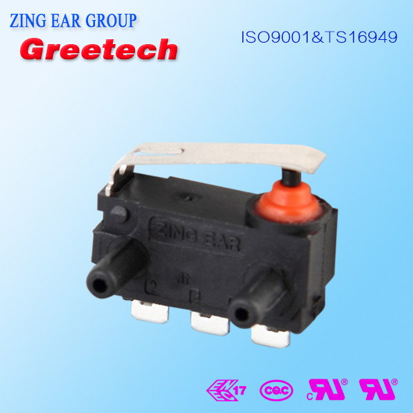 UL, ENEC approved waterproof mini micro switch, container door latch used smd push button micro switch