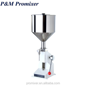 Manual small volume filling machine for cosmetic cream or honey or essential oil