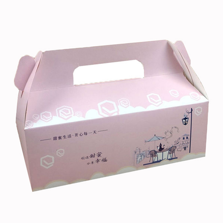 Hot golden cake folding packing box custom collapsible gift boxes