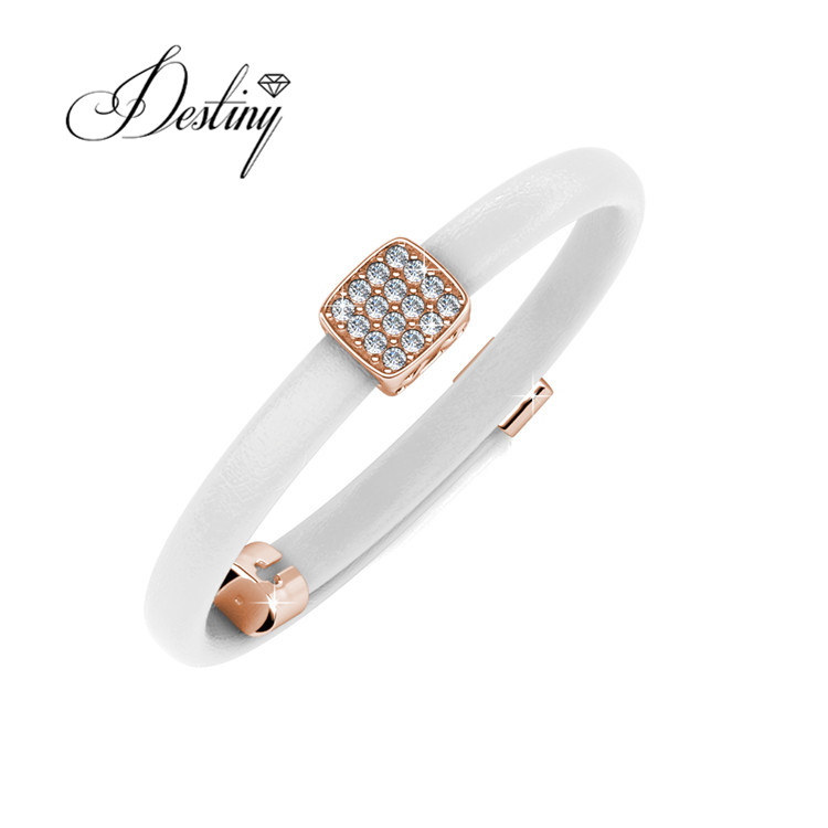 18d49bdfea9cb Destiny Jewellery Wholesale Fashion leather bracelet for unisex made with  crystal from swarovski, View leather bracelet, Destiny Jewellery Product ...