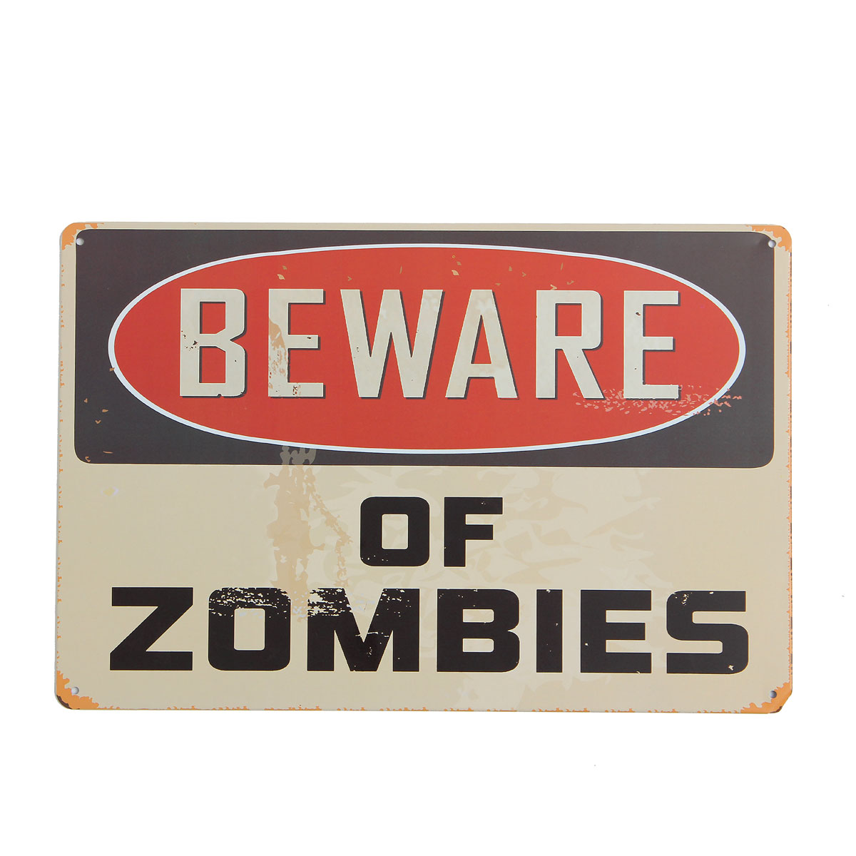 Mischief Beware-Of-Zombie Vintage Tin Sign Garage Shabby Bar Pub Club Haunted House Wall Home Decor Retro Metal Poster Craft Pro