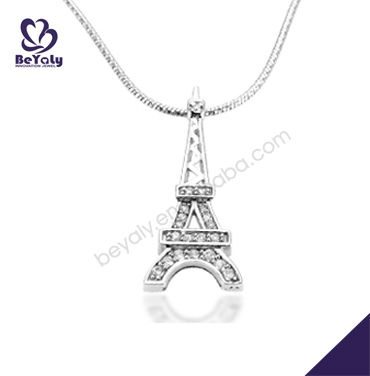 2013 eiffel tower shaped 925 sterling silver pendant