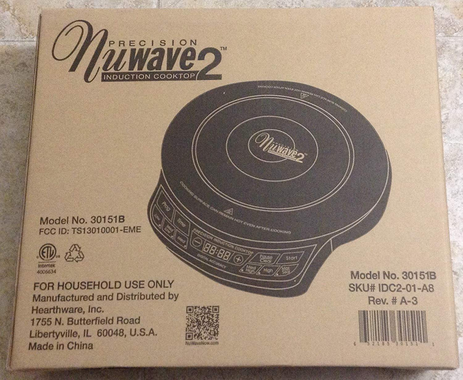 Precision Nuwave 2 Induction Cooktop - 30151B