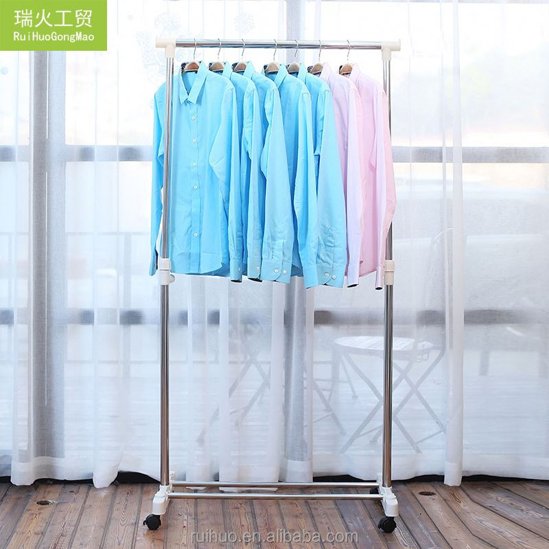 Modern Style Elegant Single Pole Washing Hanger Drying Clothes Rack