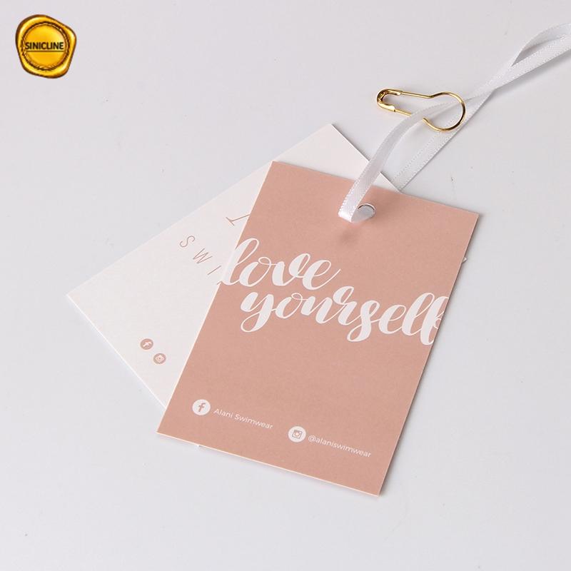 Sinicline कस्टम के साथ सुंदर डिजाइन परिधान वस्त्र स्विंग टैग बुटीक लटका टैग पिन