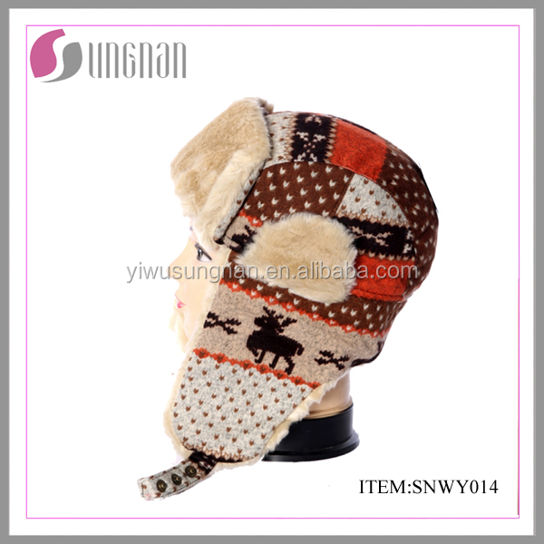 Yiwu factory sale custom christmas hats funny winter ski