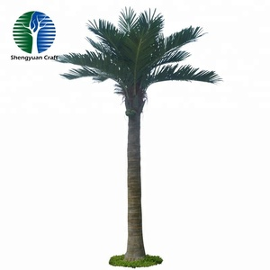 Preserved wholesale indoor decorative plants artifical palm trees for interior decoration