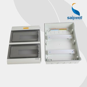 SAIP/SAIPWELL 380*381*110mm 32 way New Type Plastic Enclosure Electrical main distribution boards
