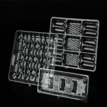 clear plastic cookies/biscuit/egg tart tray with six compartment