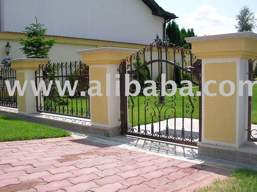 Puertas de hierro forjado vallado enrejado y puertas - Cercas de hierro ...