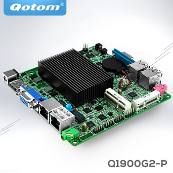 Qotom Mini Motherboard with baytrail j1900 2 LAN Industrial nano itx motherboard