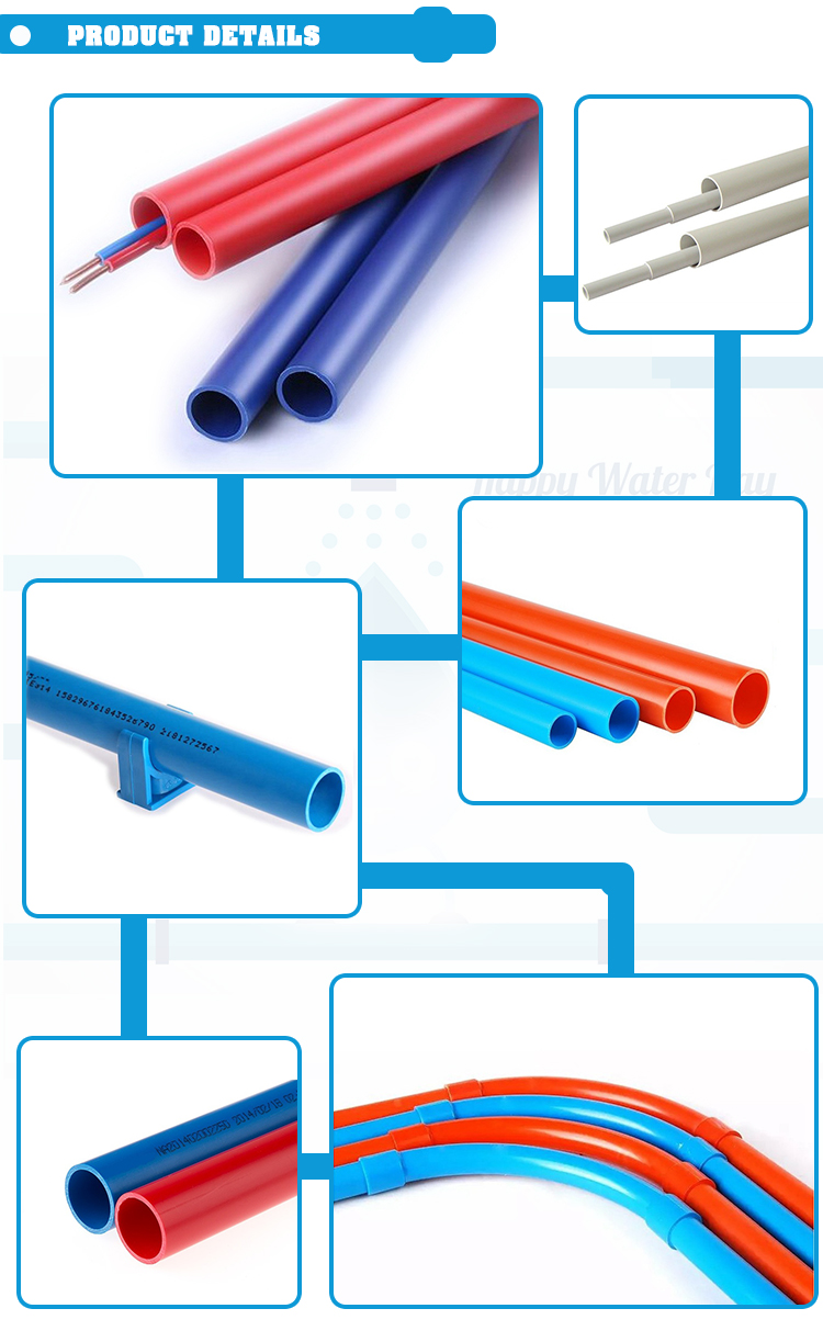 Malaysia 25mm 32mm 63mm Diameter Sizes Electrical Conduit Flexible Wiring Pvc Pipe Price List For Electrica
