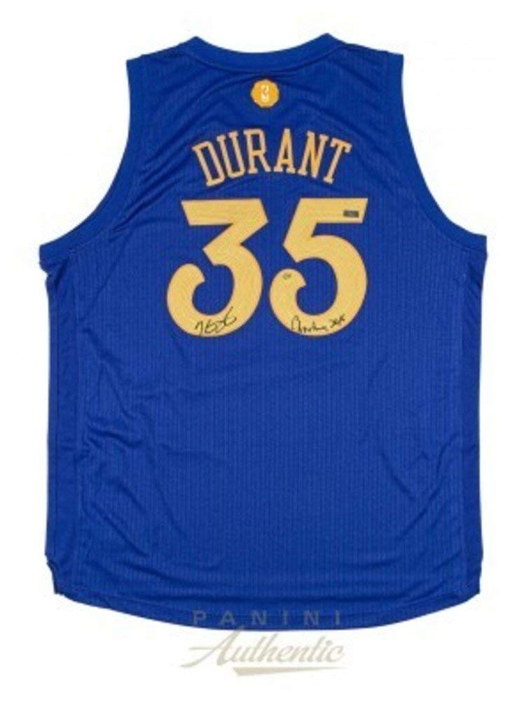 528611e9a3d Kevin Durant Signed Autograph Warriors Christmas Edition Swingman Jersey  With Christmas 2016 Inscripiton Panini Le 35