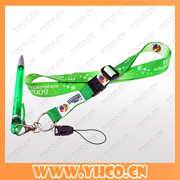 Custom 2016 Cheap Corporate Giveaways Ball Pen With Lanyard