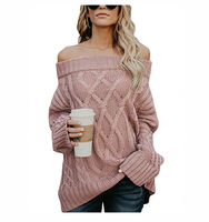 wholesale African New design custom long sleeve off the shoulder sweater