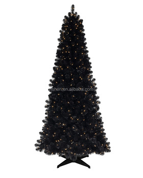 180cm slim black xmas tree with led lights artificial black christmas tree
