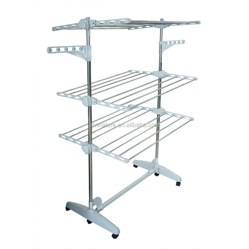 Clothes Airer Drying Rack Extra Large Deluxe 3 Tier Clothes Drying