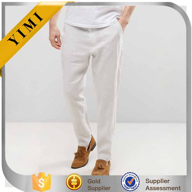 Clothing Manufacturer Wholesale Summer Pants For Men Tapered 100% Linen Pants