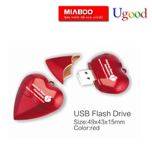 Gift Custom logo Heart shape usb flash drive/memory stick 3.0 wholesale factory price in bulks