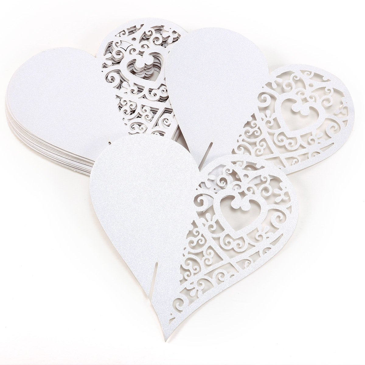 Cheap iphone shaped business cards find iphone shaped business get quotations winomo 20pcs laser cut semi hollow heart shaped wedding party name cards wine glass cards colourmoves