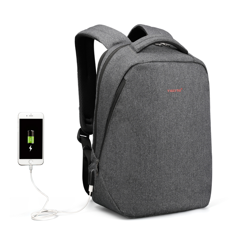 2018 New Arrivals Tigernu Japanese Style Bag USB Charging bag Latop <strong>backpack</strong> for 14 17inch