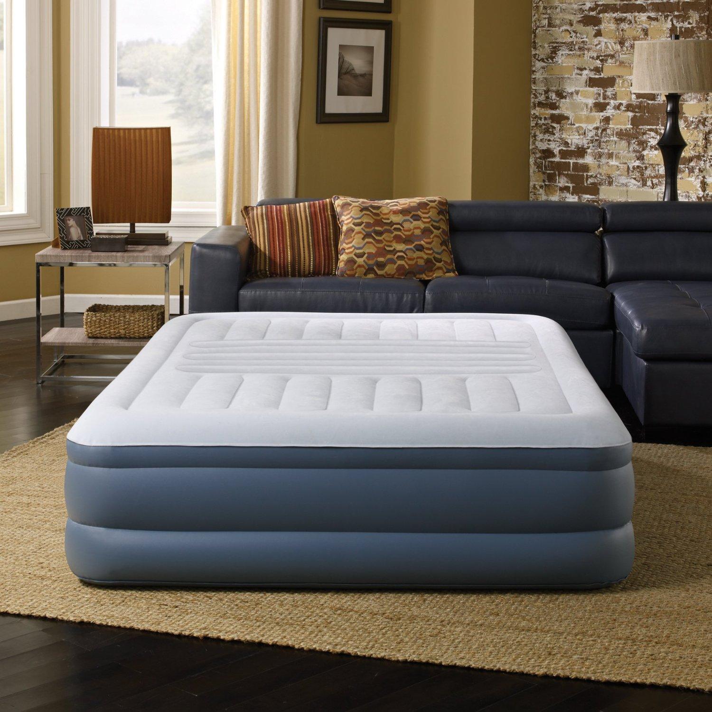 Simmons Beautyrest Lumbar Lux Queen Air Bed Mattress with Built-in Pump