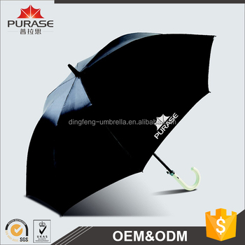 High quality UPF 30+ pongee 190T auto open double layers windproof / waterproof golf umbrella