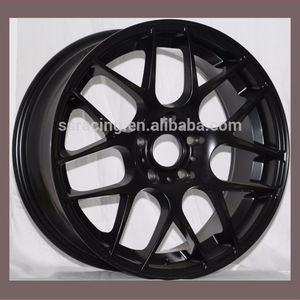 "17"" 18"" and 19"" matt black / black machine face replica HRE wheel"