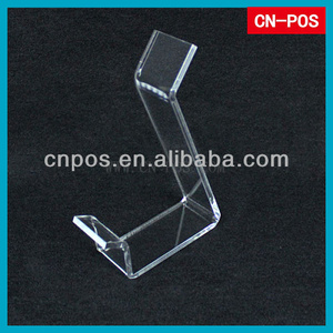 transparent acrylic display rack for shoes showing