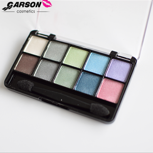 New Hot cake Garson 10 colors multi-colored shimmer eyeshadow eye make up with private label