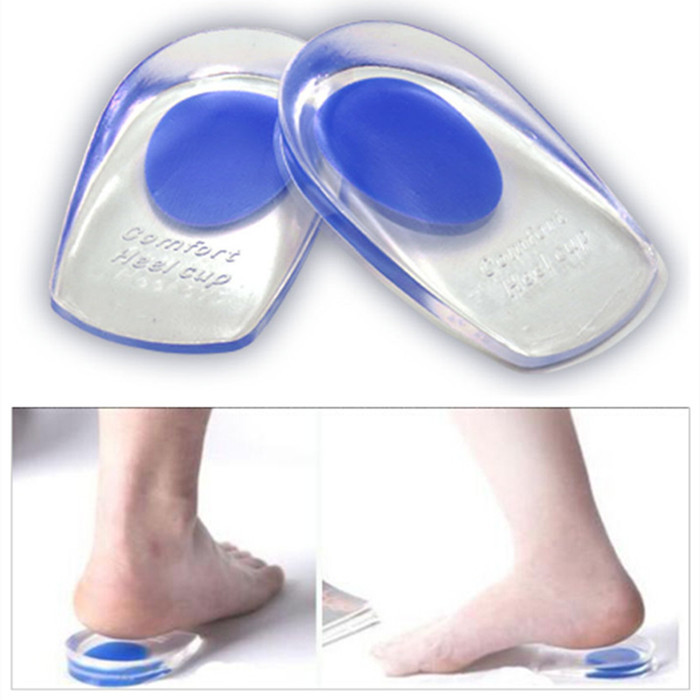 8f28555d10 Buy Soft Medical Silicone Gel Foot Inserts Heel Pain Relief Spur Cup  Insoles Support Shoe Taller Cushion Protetor de Calcanhar T044 in Cheap  Price on ...