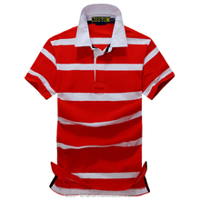 Custom Cut Striped Wholesale Polo Shirt Accept ODM/OEM