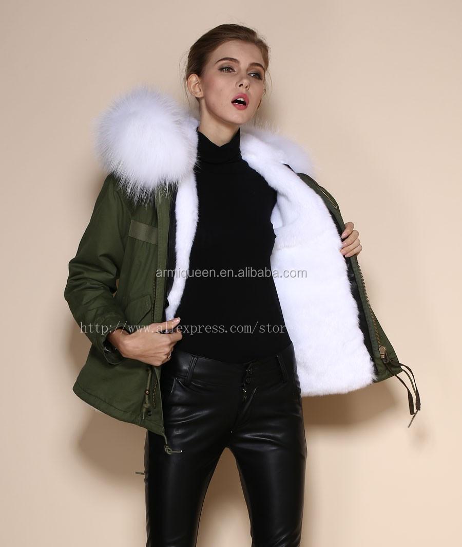76dde2e156a971 2017 Fashional damen kurze stil pelzweste für winter tragen, weiße echte  kaninchen dickes fell parka