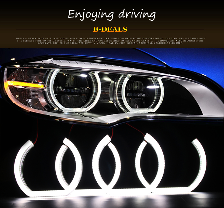New B.MW DTM Style Flat Bottom Acrylic Cover Crystal Angel Eyes For Bmw F10